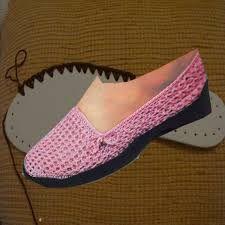 Resultado de imagen para zapatos tejidos de damas