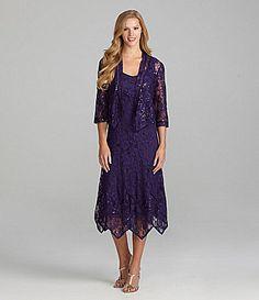 df91876404b KM Collections Lace Sequin Jacket Dress  Dillards MoTB   in Black maybe