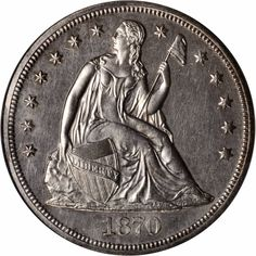 US Coins 1870 Seated Liberty Silver Dollar