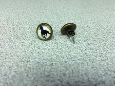 Running Horses Stud Earrings with Brass by StarBoundWestern Running Horses, Brass Fittings, Earrings Handmade, Cufflinks, My Etsy Shop, Stud Earrings, Trending Outfits, My Style, Unique Jewelry