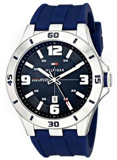 Tommy_Hilfiger_Men's_1791062_Stainless_Steel_Watch_with_Blue_Silicone_Band