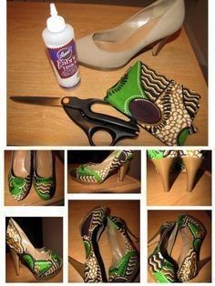Womens High Heels on Modern Magazin Shoe Refashion, Diy Clothes Refashion, Diy Clothing, Shoe Makeover, Do It Yourself Fashion, Diy Clothes Videos, Shoe Crafts, Shoe Art, Painted Shoes