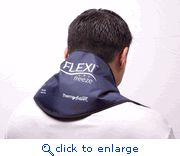 Awesome soothing cool neck ice pack...flexible and pretty light!