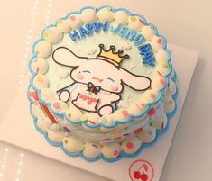 Pastel Cakes, Colorful Cakes, Pretty Birthday Cakes, Pretty Cakes, Anime Cake, Cute Baking, Cake Day, Kawaii, Cute Desserts