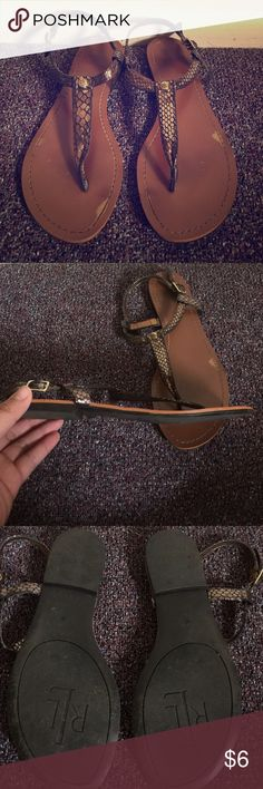 Ralph Lauren Sandals Brown/golden sandals. Some color came off as seen in pictures, other than that NO damages. See other items in closet to bundle and save! Also check out some FREE items with purchase!! Ralph Lauren Shoes Sandals