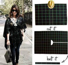 Cómo hacer un poncho o capa casero con una manta