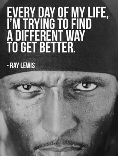 Ray Lewis got the right idea