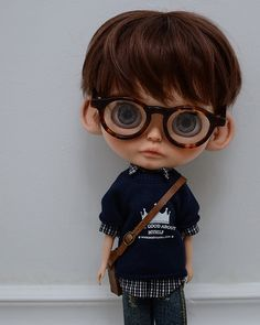 My first custom Blythe boy Cute Cartoon Boy, Cute Cartoon Pictures, Cartoon Pics, Child Doll, Boy Doll, Creative Profile Picture, Cute Love Images, Cute Kids Photography, Dream Doll