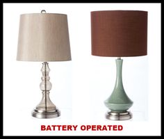 How to Convert a Lamp to Battery Power | Lamp shades, Lamps and ...