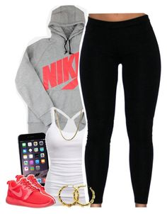 """""""Untitled #1418"""" by lulu-foreva ❤ liked on Polyvore featuring NIKE and American Eagle Outfitters"""