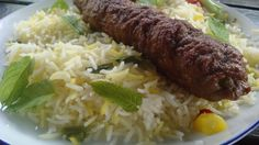 Kubide Persian kebab with spicy rice