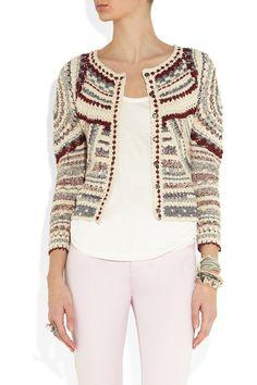 Isabel Marant|Weston crochet-knit jacket|NET-A-PORTER.COM