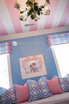 The Becca Bow Frame ceiling and windows this room is from the beauford bonnet company they make the most amazing children's things loved this site for a long time!