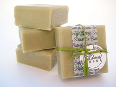 """Natural Handmade Soap """"Rosemary"""" (especially made for Hair Wash - with Beer, Green Clay Illit and essential Rosemary Oil)"""