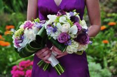 Purple wedding flowers images