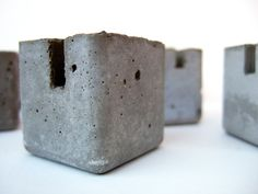 concrete blocks. table marker stands. set of by yournestinspired, $60.00