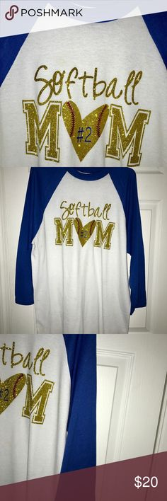 💕LAST DAY SALE💕NWOT💕SOFTBALL MOM💕LG💕FIRM💕 💕💕SUPER CUTE💕LAST ONE💕💕 Tops Tees - Long Sleeve