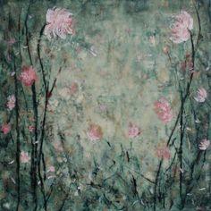 Painting  Encaustic Beeswax Painting When we Met by SwallaStudio, $139.00