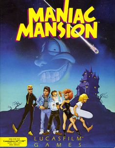 Maniac Mansion - Commodore 64 (1987)  First time I ever experienced cut-scenes in a game, and possibly the first point-and-click game I ever played. The mansion and twisted characters and story sucked me right in.