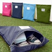 Wish | Waterproof Laundry Shoe Travel Pouch Storage Portable Tote Zipper Bag Organizer