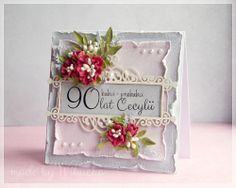 card with flowers for birthday