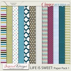 LIFE IS SWEET: Paper Pack 1