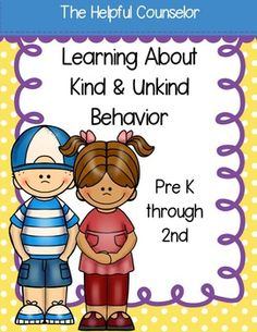 Kind Behavior Booklet, Coloring Pages, and Posters $