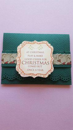 Items similar to Christmas giftcard holder on Etsy Good Cheer, Made Goods, I Shop, Christmas, How To Make, Etsy, Yule, Navidad, Xmas