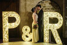Déco lettre géantes wedding decoration giant letters lighting