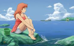 Ponyo grown up. I like this version of her. I wonder the boy would look like...