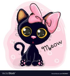 Find Cute Cartoon Black Kitten On White stock images in HD and millions of other royalty-free stock photos, illustrations and vectors in the Shutterstock collection. Thousands of new, high-quality pictures added every day. Cartoon Cartoon, Cute Cartoon Animals, Cartoon Images, Cute Black Kitten, Black Kittens, Ragdoll Kittens, Tabby Cats, Funny Kittens, Bengal Cats