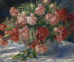 'Peonies', c. 1880 by Pierre-Auguste Renoir