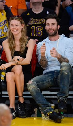 Behati's Adidas Sneakers Were Perfectly Sporty, but Her LBD and Sunglasses Were On-Point For a Walk in the Park Than Basketball Game