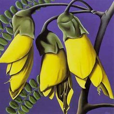 Kowhai by Diana Adams. The kowhai tree has yellow flowers and kowhai is also the Maori word for yellow.