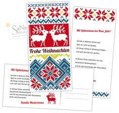 Weihnachtskarte Skandinavien