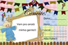 Festa de aniversário junina - convite