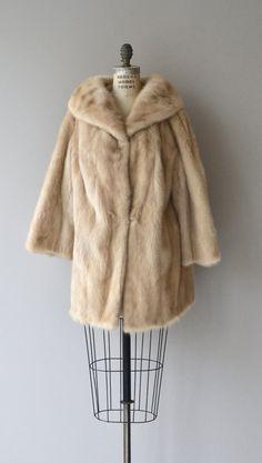 1950s mink coat / Vintage fur coat / 50s cropped mink jacket ...
