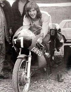 MrBarry Sheen on his Derby ! Gp Moto, Motorcycle Racers, Racing Motorcycles, Vintage Race Car, Vintage Bikes, Grand Prix, Course Moto, Motogp Race, Street Bikes