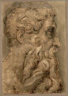 Anonym nach Michelangelo, Kopf des Moses im Profil nach rechts © Albertina, Wien…