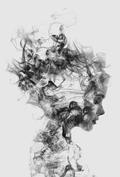 Dissolve Me als Aluminium print door Dániel Taylor   JUNIQE