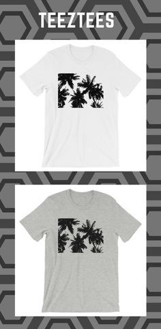 Palm Trees men's/ unisex t-shirt by Teeztees New T, Unisex, Mens Tops, T Shirt, Clothes, Design, Products, Fashion, Moda
