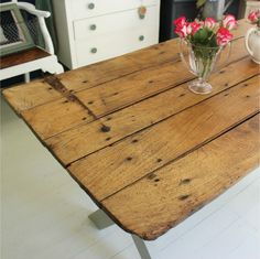 upcycled furniture | Reclaimed door table : handmade upcycled furniture : Ruby Rhino