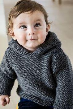 Flot anorak til de mindste Baby Boy Knitting Patterns Free, Knitting For Kids, Knit Patterns, Free Knitting, Knit Baby Sweaters, Boys Sweaters, Crochet Baby, Knit Crochet, Baby Barn
