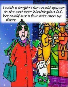 Maxine at Christmas