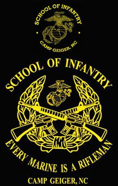 School of Infantry, Camp Geiger, NC T-shirt - Hard Charger Apparel Marine Corps T Shirts, Usmc T Shirts, Us Marine Corps, Marine Recon, Once A Marine, Marine Mom, Marine Cake, Military Life, Military Signs