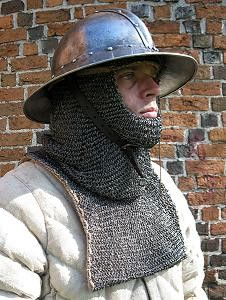 riveted chainmail coif side 1
