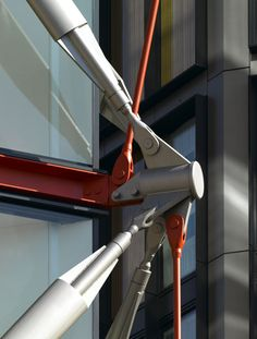 These supports carry the weight of each structure, preventing the need for load-bearing walls inside the building and in turn allowing flexible layouts on different floors.