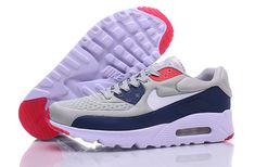 on sale d730c d01a2 Now Buy Fashion Sneakers Sneakernews Nike Air Max 90 Ultra SE Grey Dark Blue  Red White Mens Running Shoe Save Up From Outlet Store at Nikelebron.