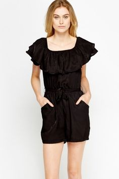 Flare Overlay Tie Up Playsuit