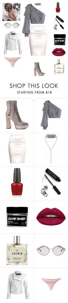 """disco boots"" by qqqq-997 ❤ liked on Polyvore featuring Alexandre Birman, Zimmermann, OPI, Bobbi Brown Cosmetics, Huda Beauty, Miller Harris, Gucci and Fleur du Mal"